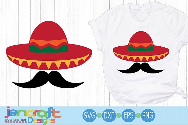 Cinco de Mayo Svg Sombrero and Mustache Svg Sombrero Svg