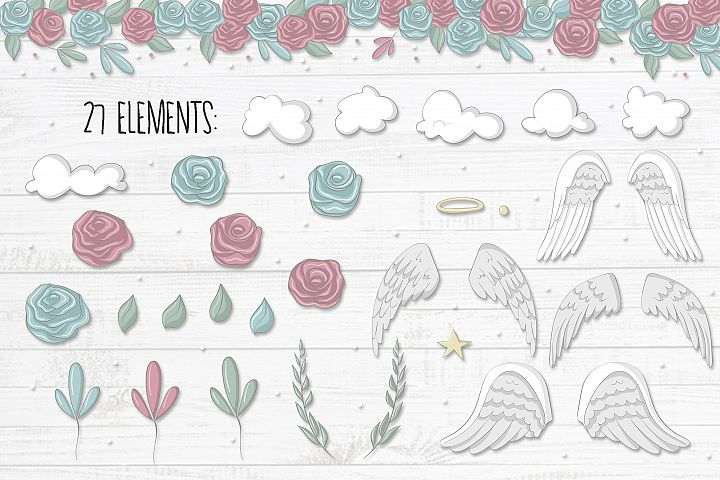 Little angels clipart - Free Design of The Week Design 2