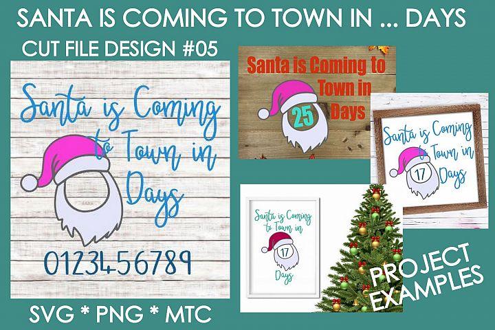 Christmas Santa Coming Sign #01 SVG Cut File Bundle
