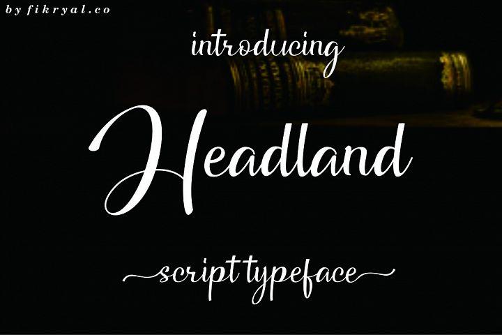 Headland // Script typeface