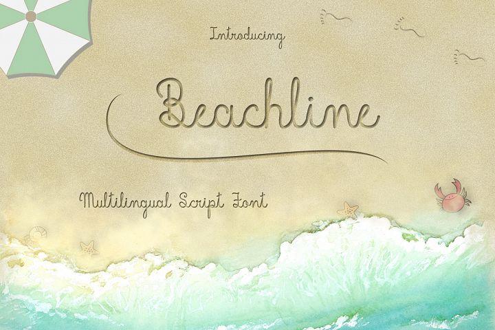 Beachline Multilingual Script Font