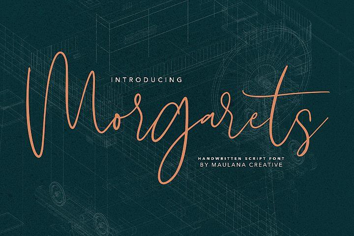 Morgarets Script Font