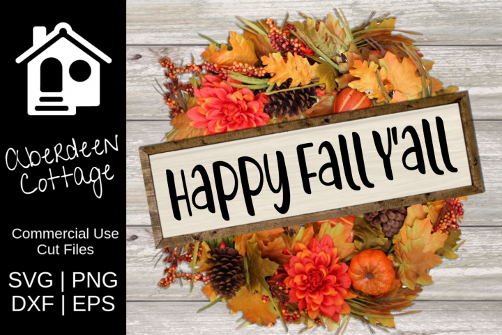 Happy Fall Yall Seasonal SVG Design
