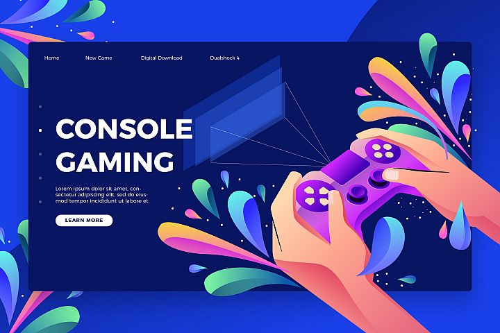 Console Gaming - Banner & Landing Page