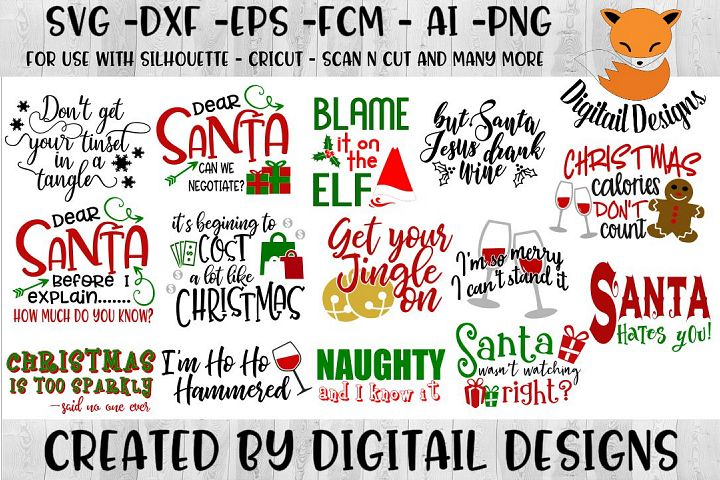 Funny Sarcastic Naughty Christmas SVG Bundle