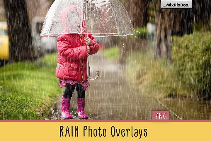 Realistic Rain Photo Overlays