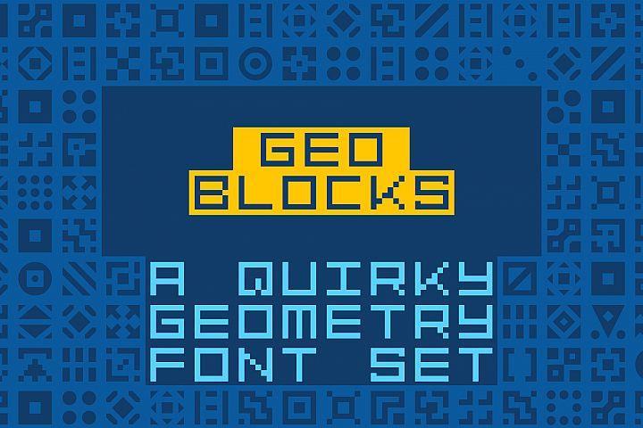 GeoBlocks - a geometric font set of blocks and shapes!