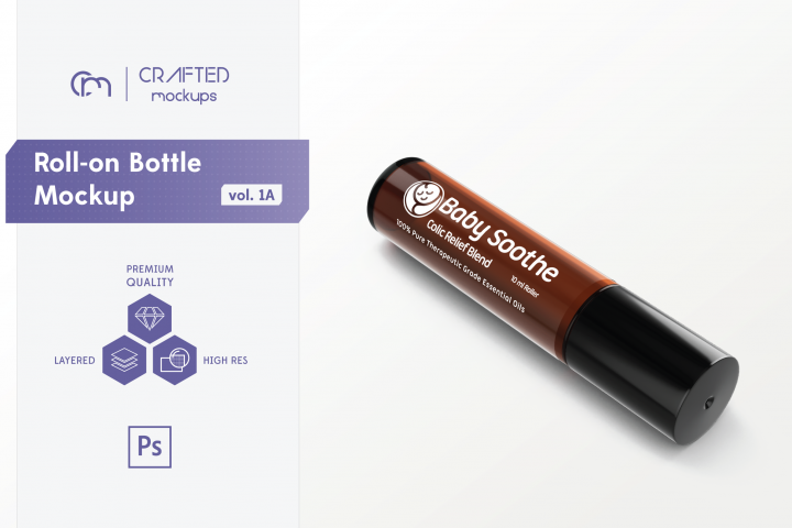 Roll-on Bottle Mockup v. 1A