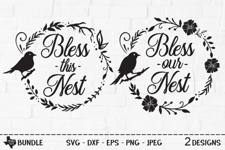 Bless Nest Bundle SVG, Cut Files, Country Shirt Design