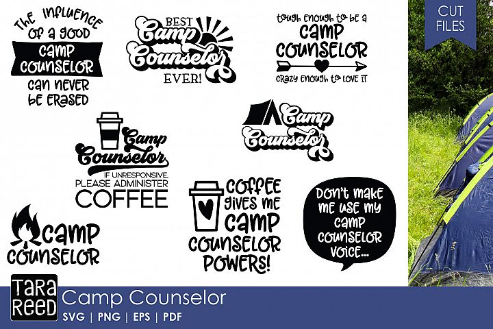 Camp Counselor - Camping SVG and Cut Files for Crafters