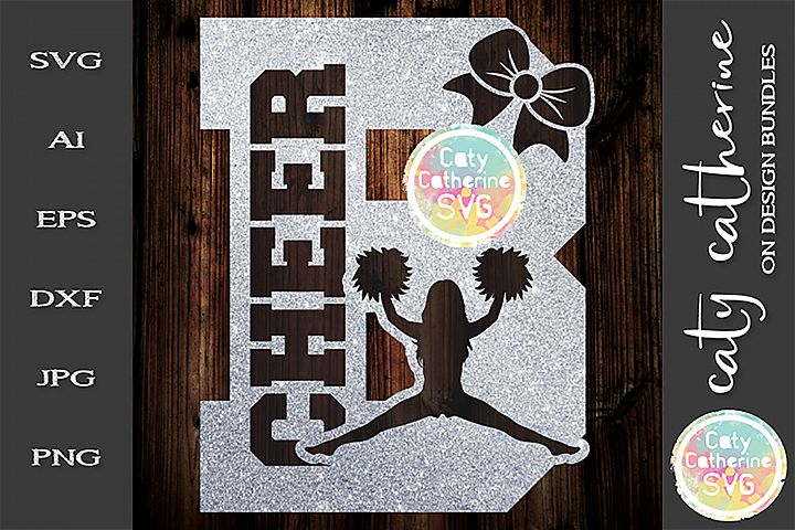 Letter B Cheerleading Monogram Letters SVG Cut File