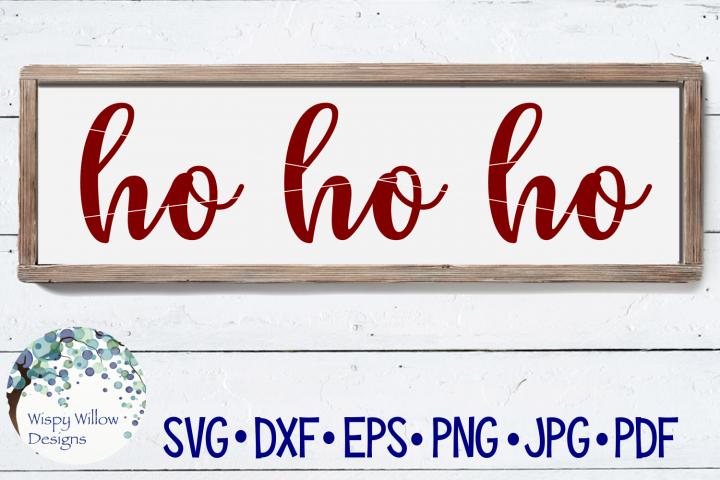 Ho Ho Ho | Santa Claus | Christmas Sign SVG Cut File