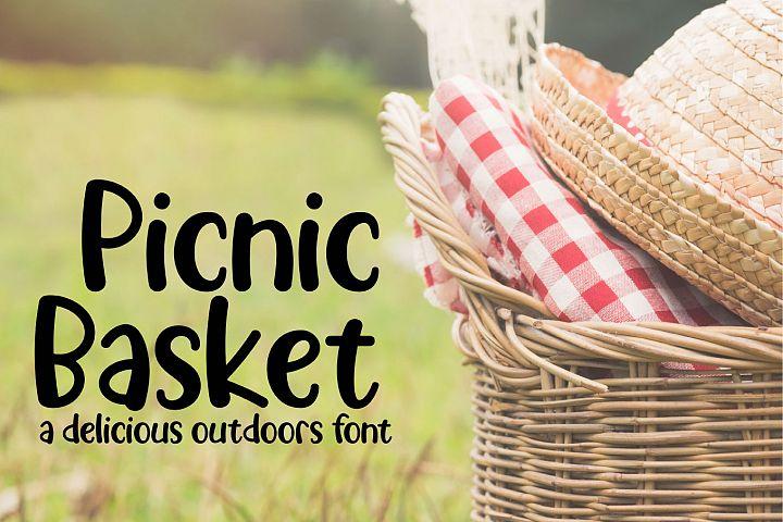 Picnic Basket - A Delicious Outdoors Font