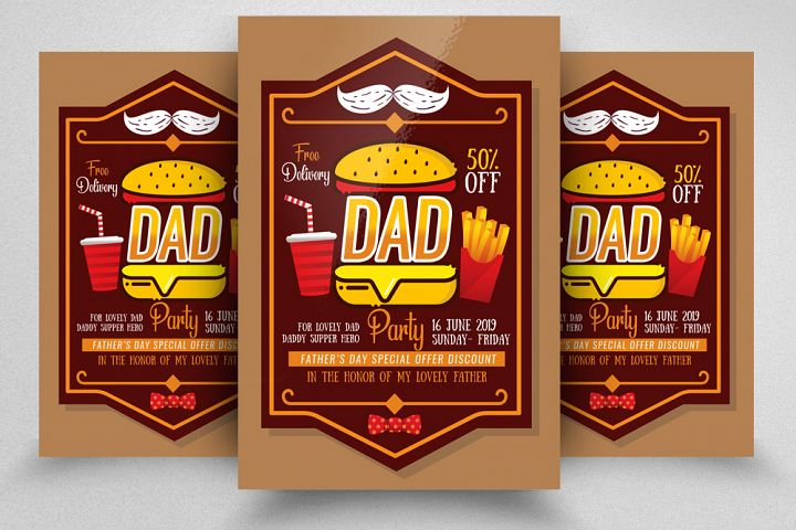 Fathers Day Food Discount Flyer