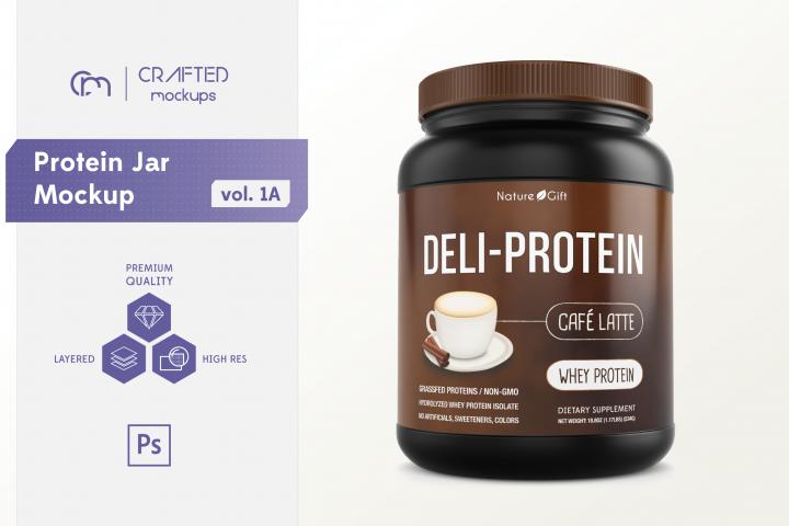 Protein Jar Mockup vol. 1A
