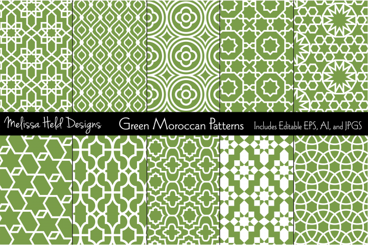 Green Moroccan Patterns