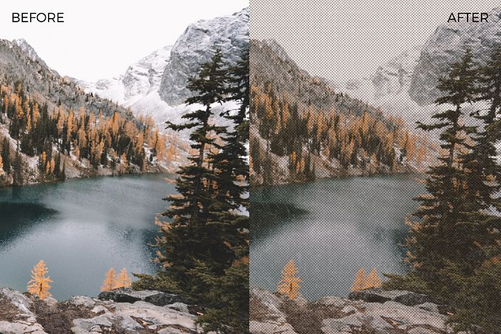 Halftone and Grunge Overlays example 4