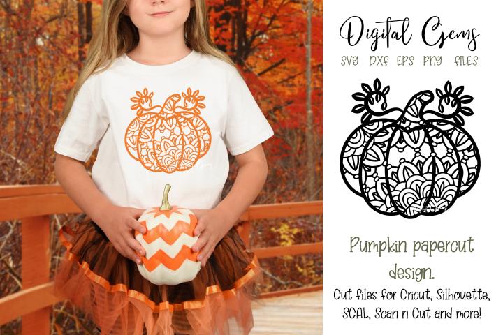 Pumpkin Paper Cut SVG / DXF / EPS / PNG Files