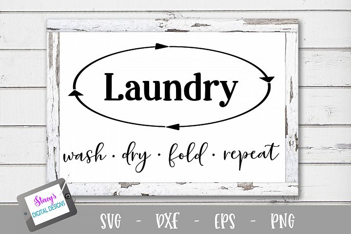 Laundry SVG - Wash dry fold repeat