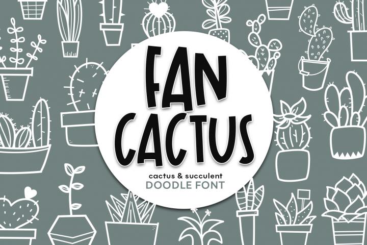Fancactus - A Cactus & Succulent Doodle Font