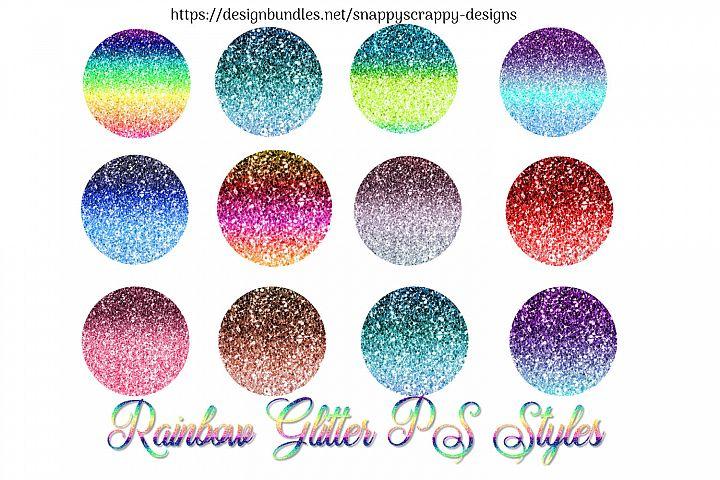 Rainbow Glitter PS Styles
