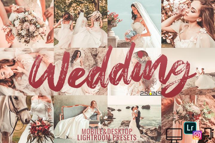 5 Wedding Lightroom Presets, Bundle Lightroom Wedding Preset