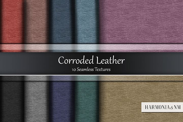 Corroded Leather 10 Seamless Textures