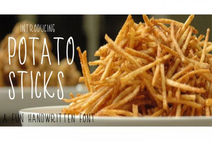 Potato Sticks Handwritten Skinny Font