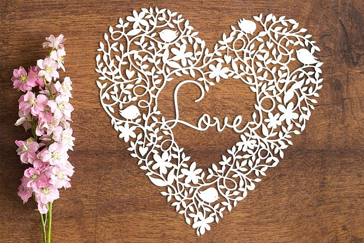 Love Heart - Paper Cutting Template