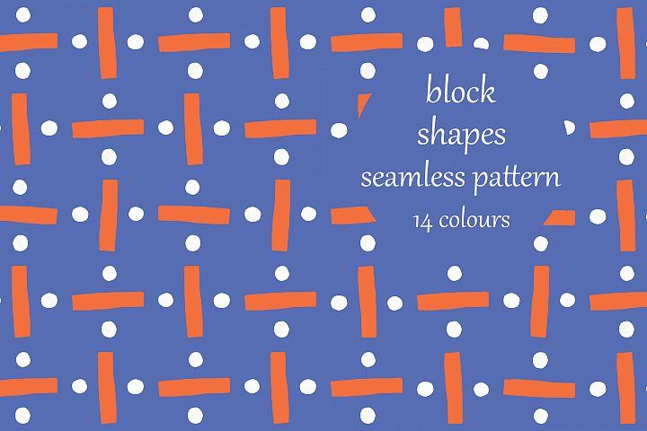 Abstract Block Shapes Block Pattern