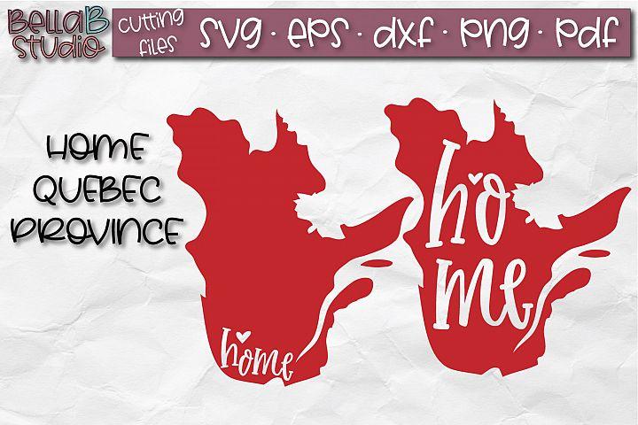 Quebec Home Province SVG, Canada SVG, Canadian SVG File
