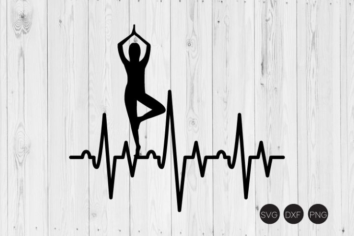Yoga Heartbeat SVG