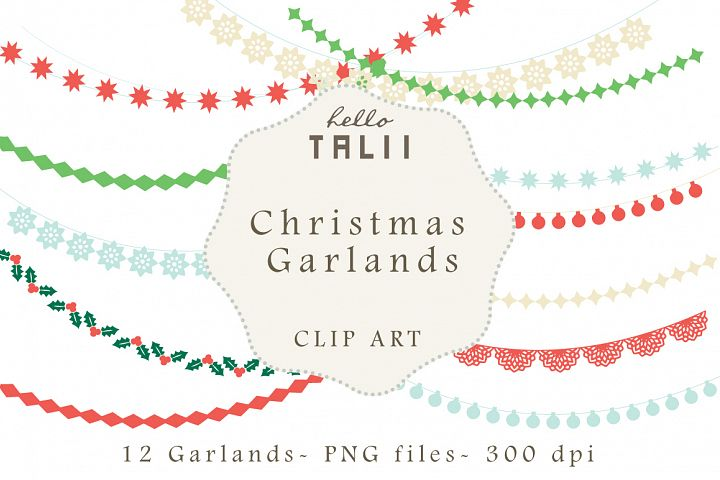 Christmas Garlands Clip Art example 1