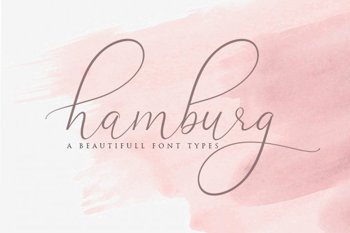 Hamburg Love Font Pretty