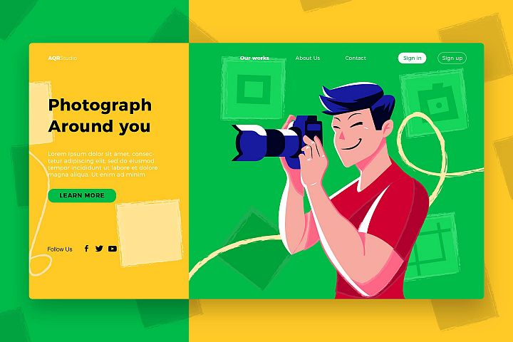 Photographer - Banner & Landing Page