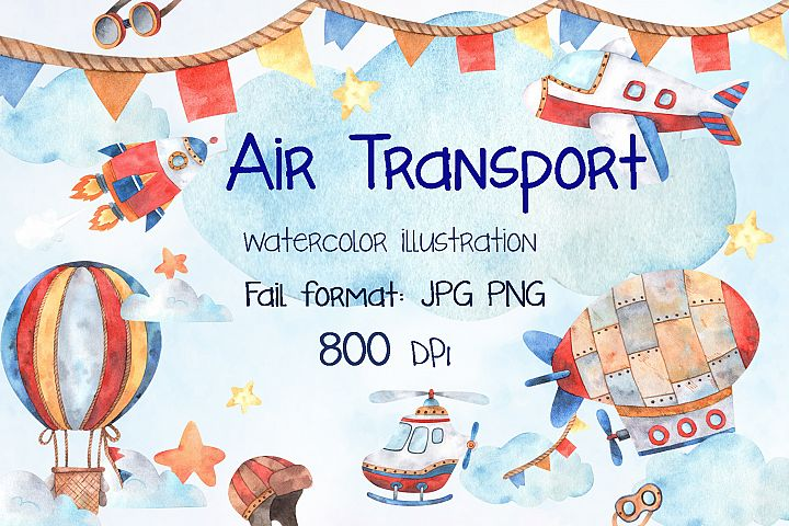 Watercolor Air Transport