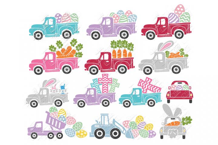 Easter Truck SVG Dump Truck in SVG, DXF, PNG, EPS, JPEG