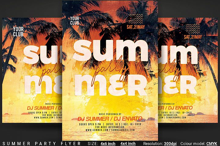 Summer Party Flyer