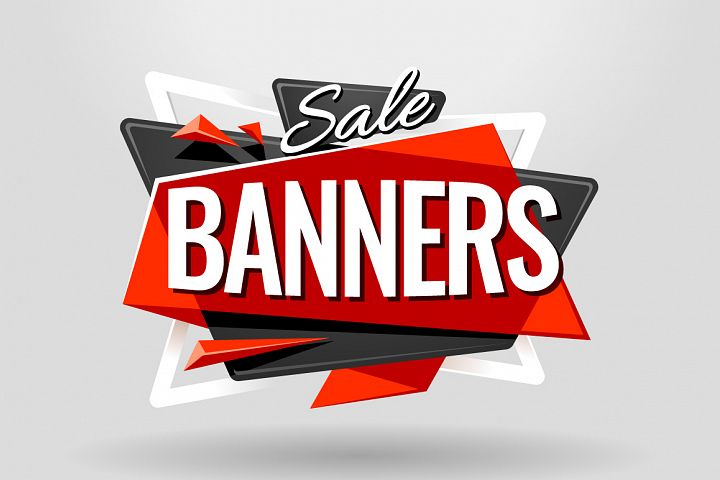 SALE BANNERS   Material Design - Free Design of The Week Font