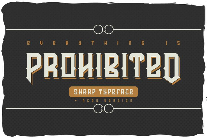 Prohibited typeface