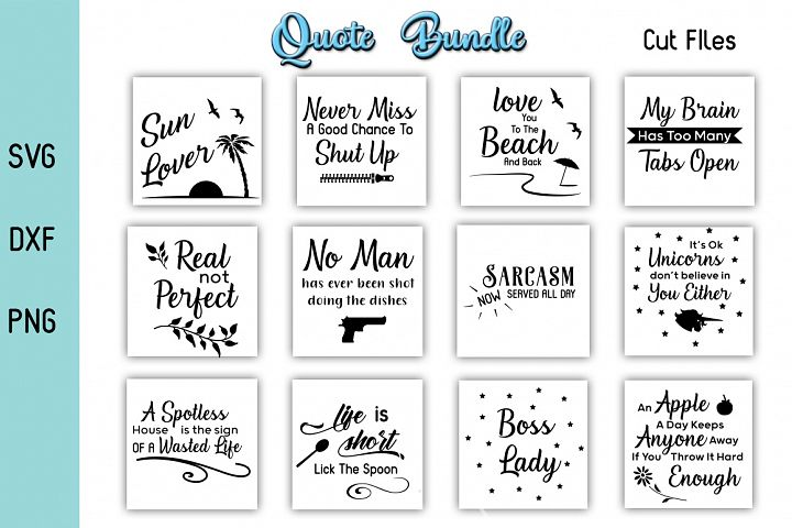 Funny Quotes - SVG DXF PNG