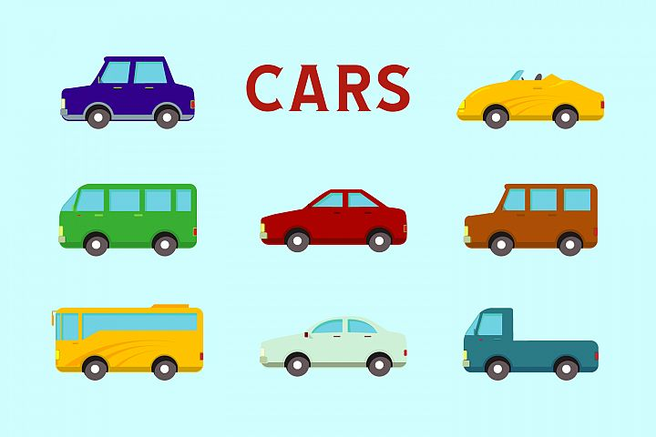 flat design vector car icon