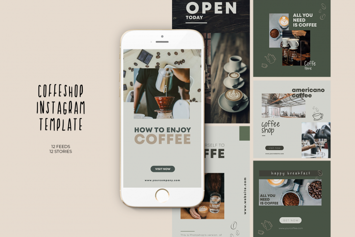 Coffeshop Instagram Templates
