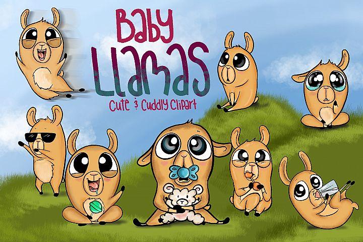 Baby Llamas| Funny Baby llamas | Alpaca Clipart