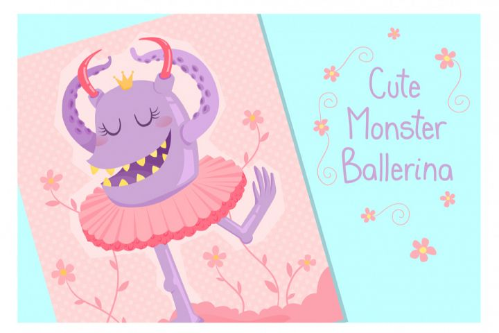 Cute Monster Ballerina