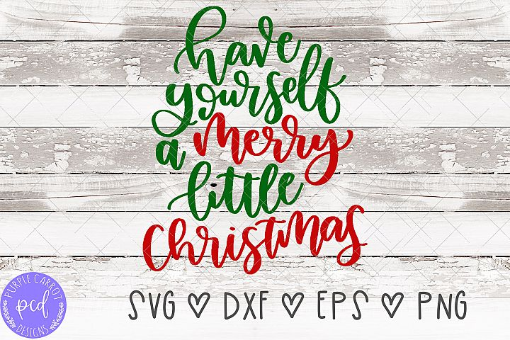 Merry Little Christmas Hand-Lettered Cut File