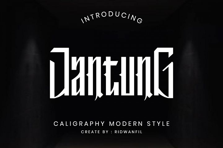 Jantung font - Callighraphy Modern Style