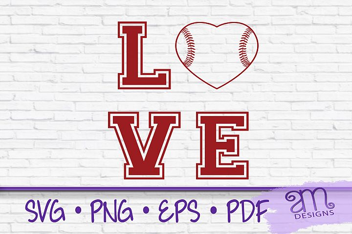 Baseball, Baseball Love Svg, Baseball Heart svg, Love svg
