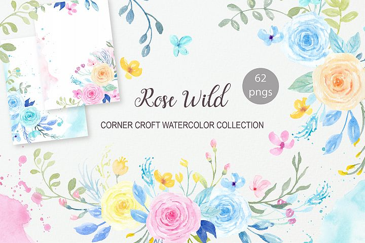 Watercolor Rose Wild Collection