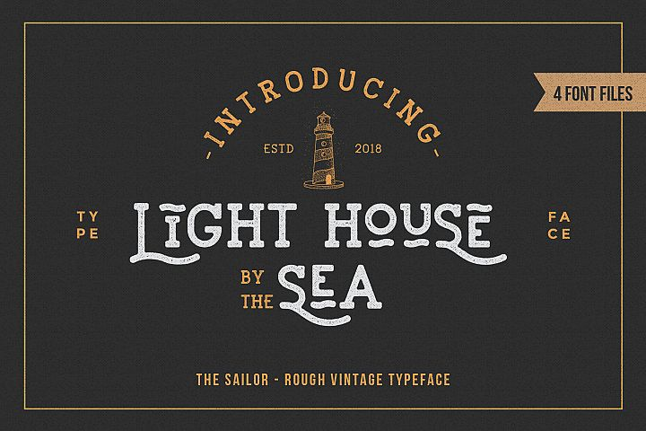 LightHouse - Vintage Sailor Rough Typeface